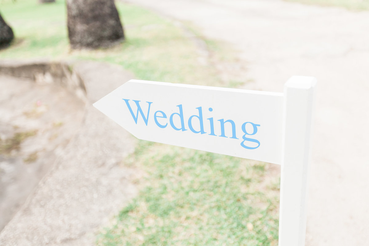 Wedding direction sign for ceremony