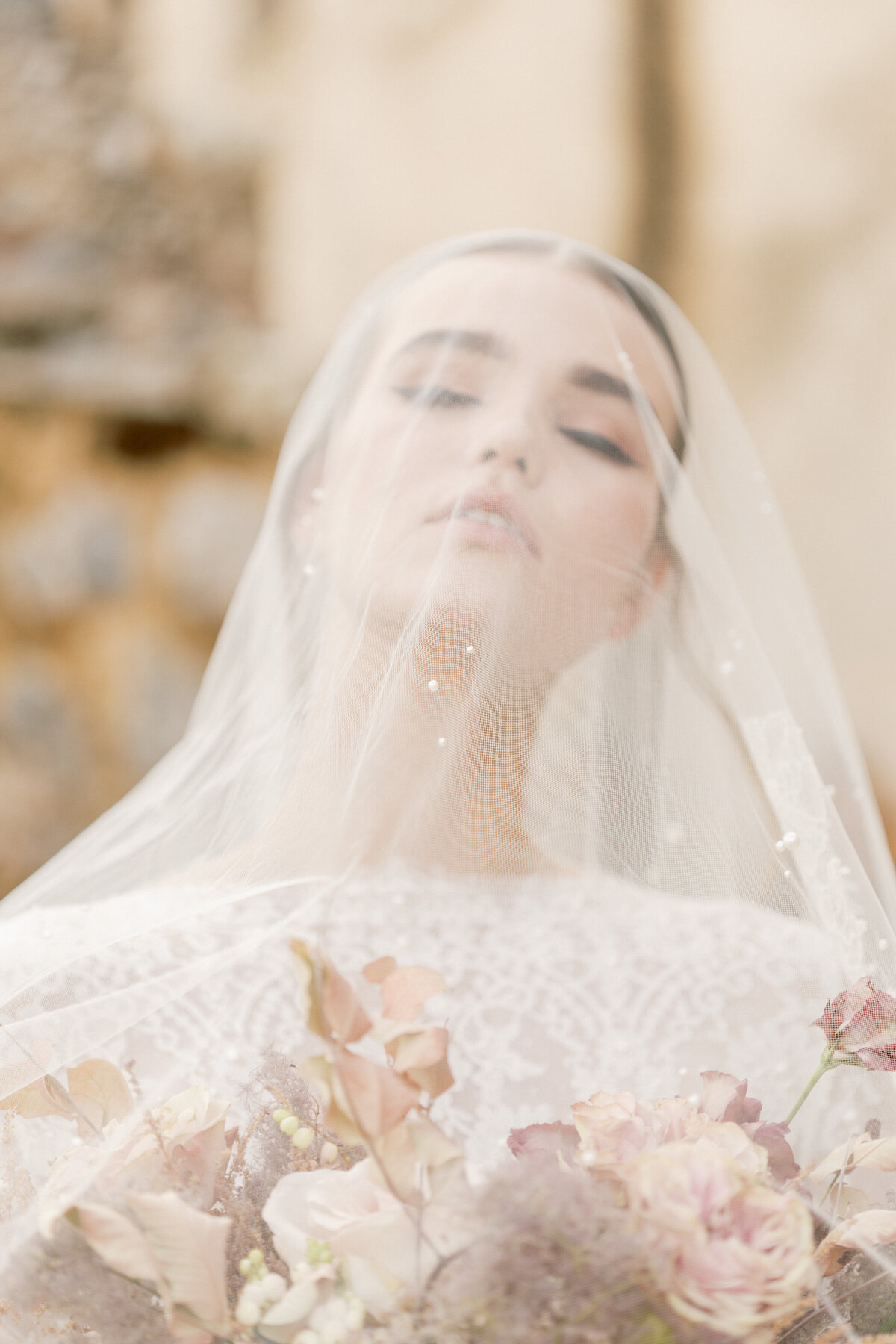 Bridal Portrait Editorial Photoshoot in Greece 15