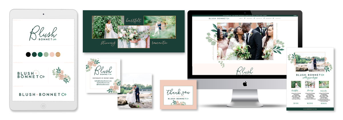 Brand and Showit Website Design for Blush & Bonnet Co.