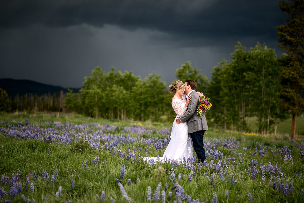 Intimate Wedding in Grandby Colorado