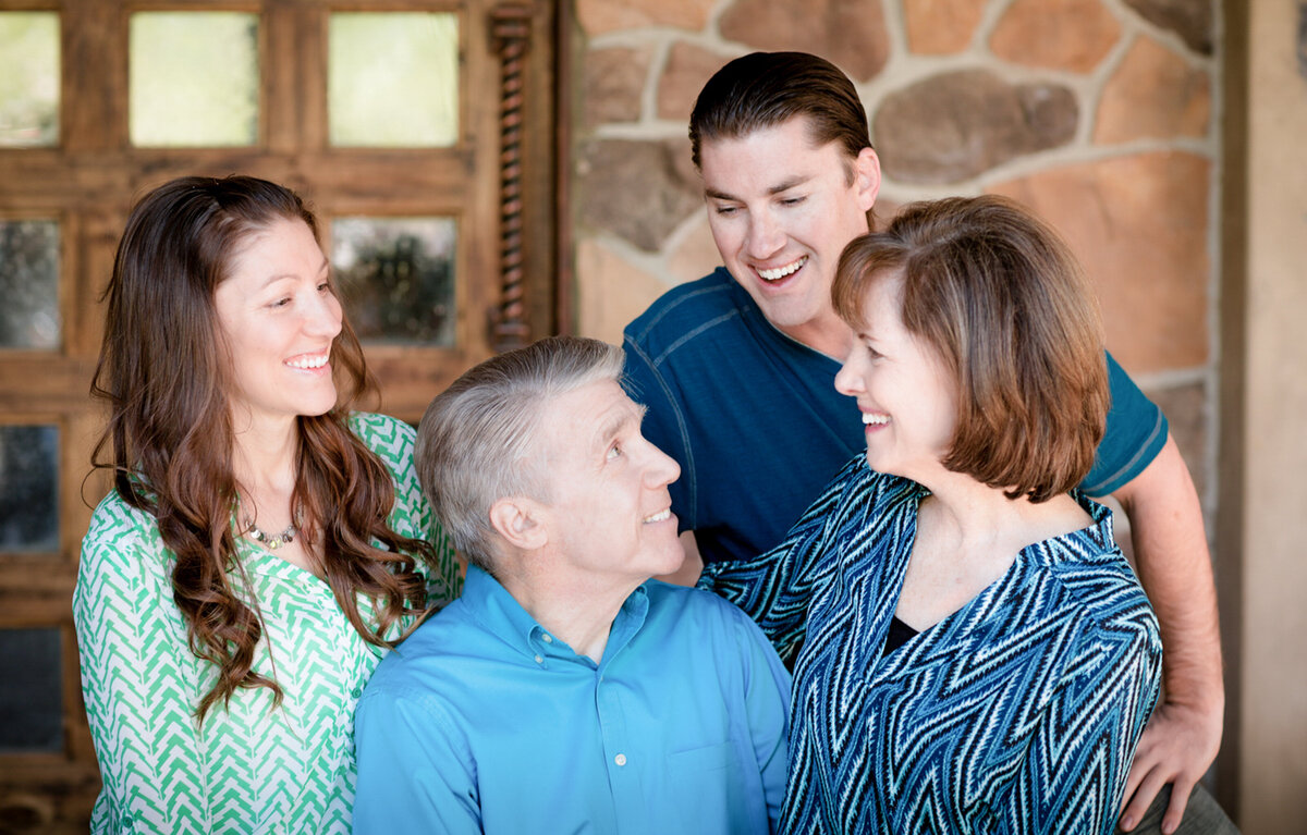 laughing family portait