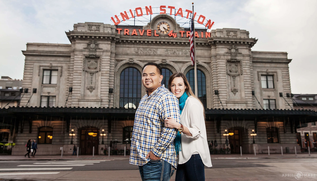 Denver Engagement Photographer at Union Station
