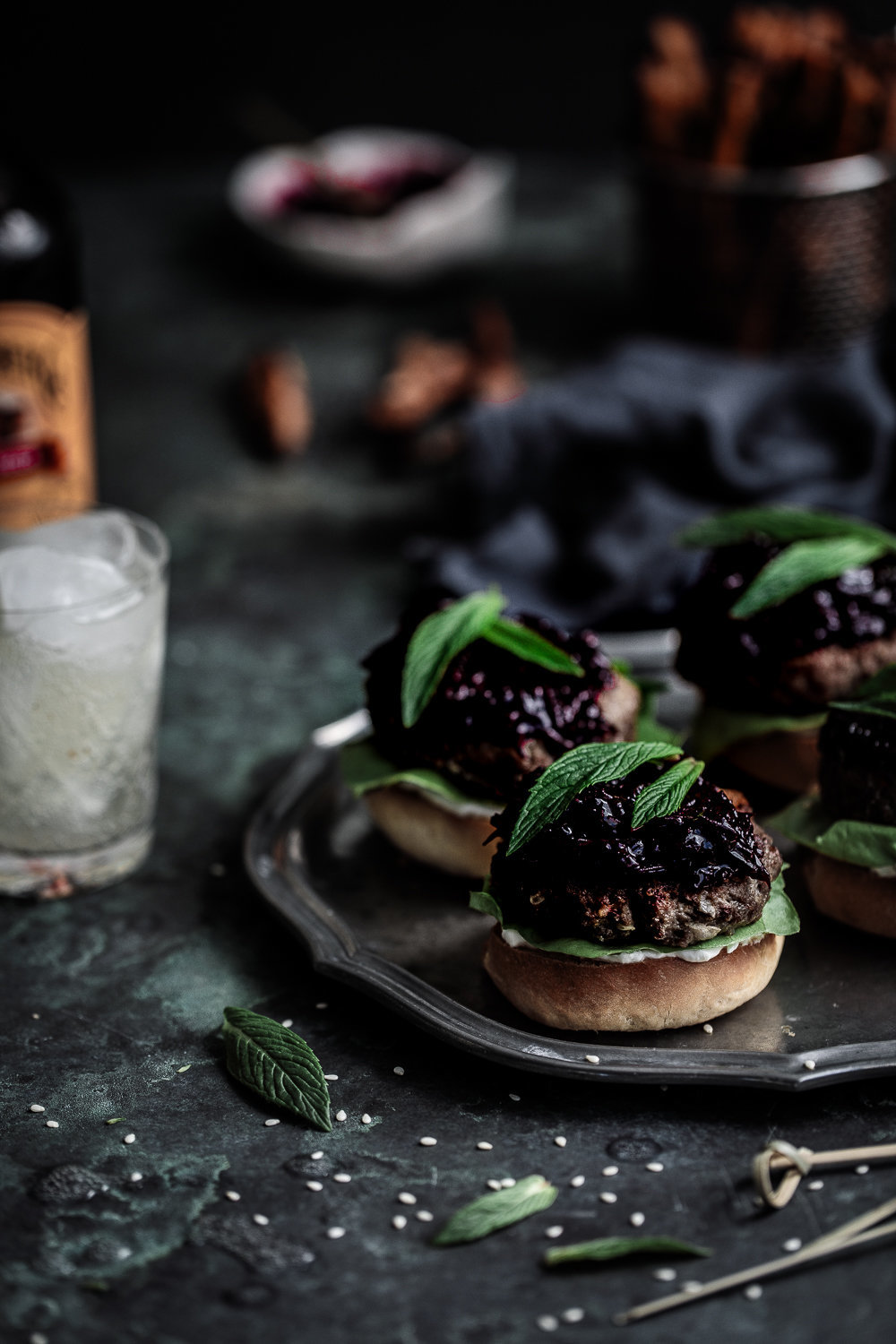 Lamb Sliders With Beetroot Relish, Labneh Tzatziki On Brioche Buns | Anisa Sabet | The Macadames-2-4
