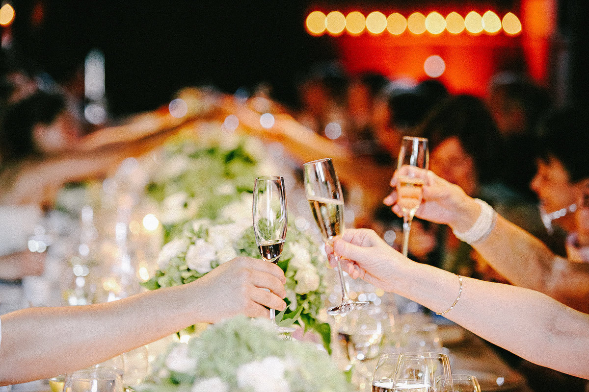 A wedding toast at Annadel Winery