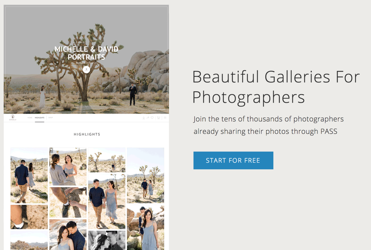 PASS | Beautiful Galleries For Photographers