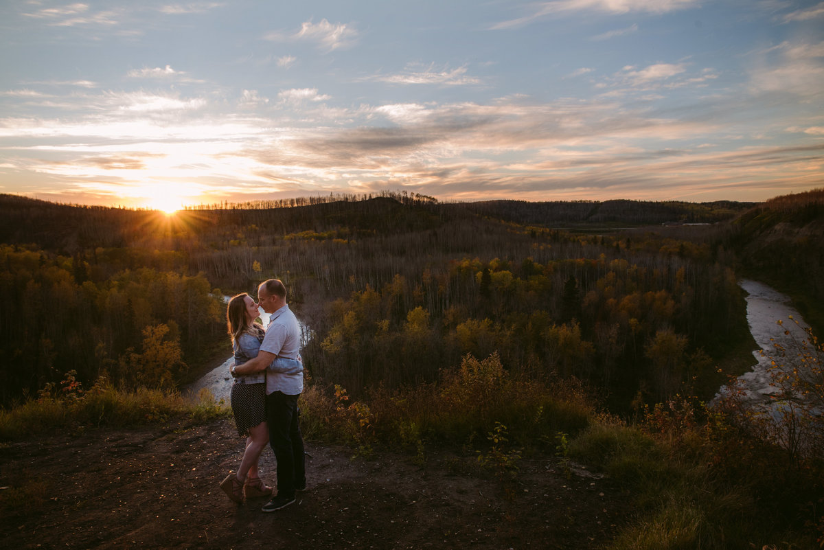 couple at horse river in Fort McMurray Alberta