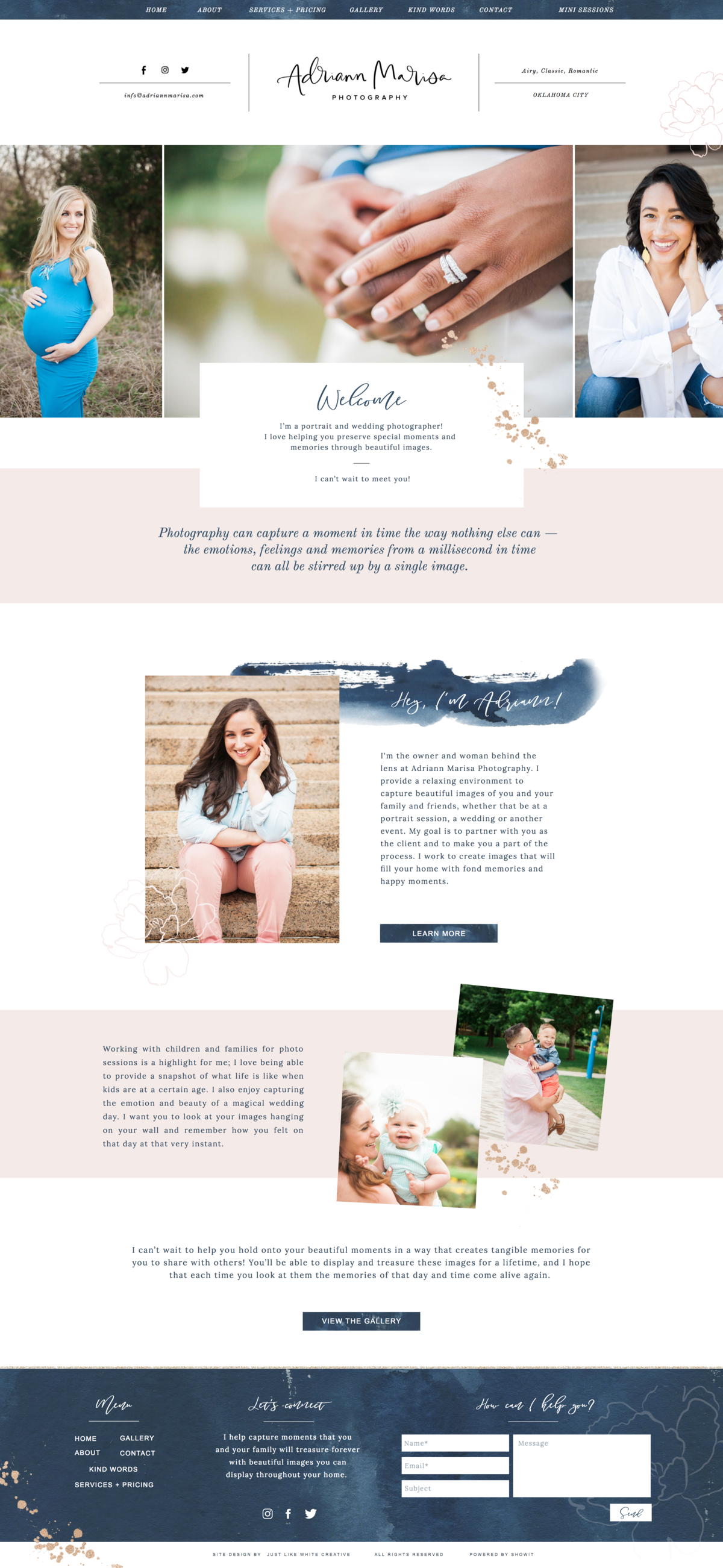 feminine website design by Tribble Design Co.