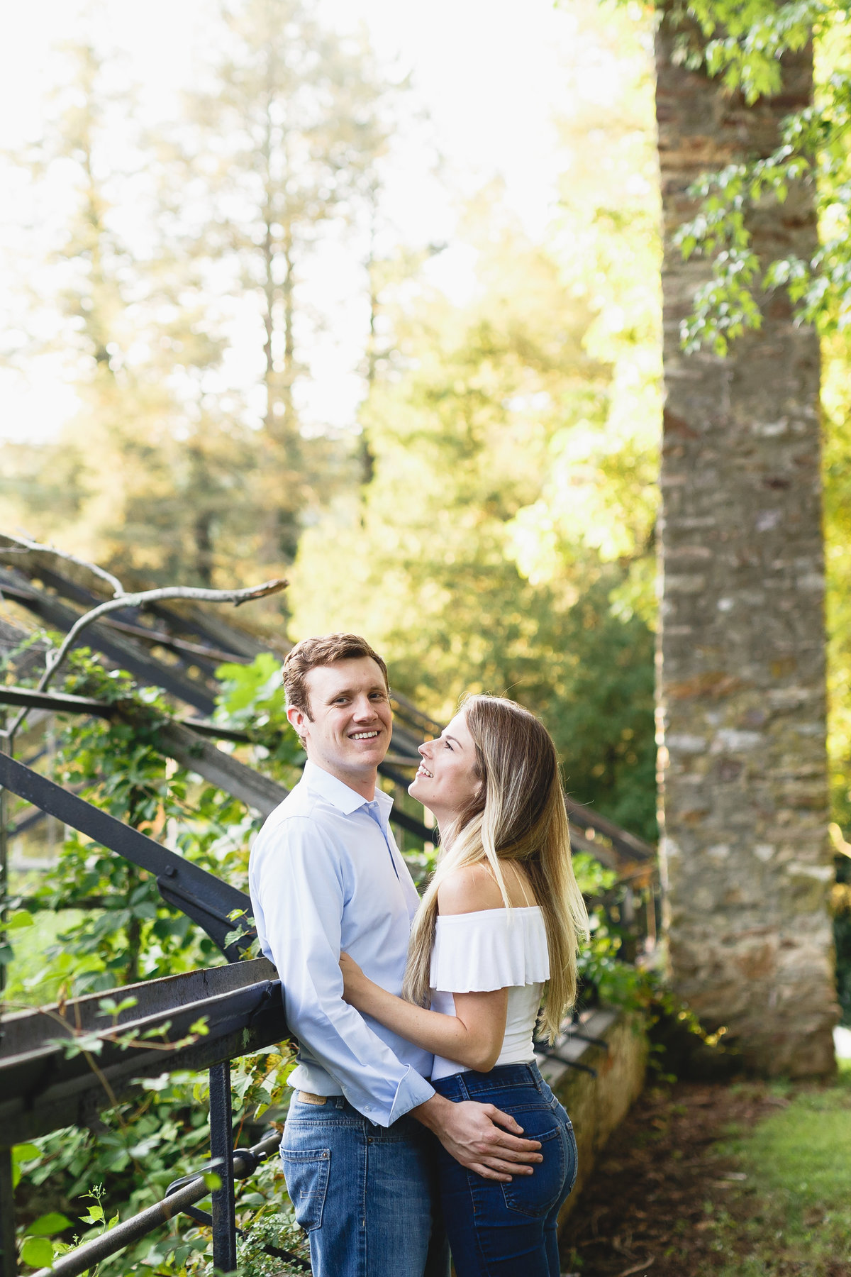 Philadelphia Engagement Session Greenhouse Outdoors 12