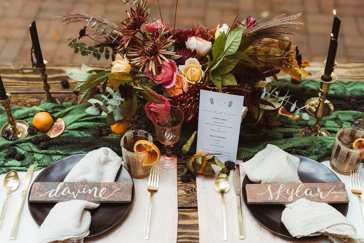 sweetheart table from Leach Botanical Garden Wedding