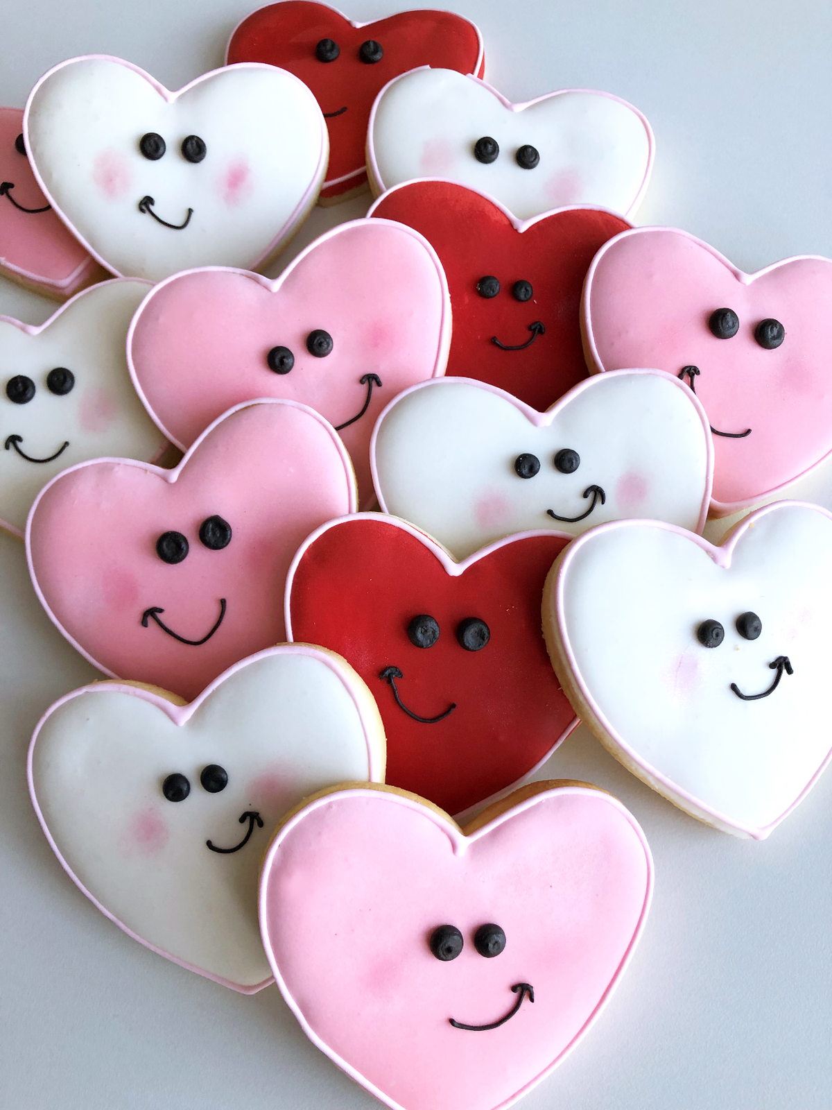 Whippt Desserts - Valentines Smiley Face Cookies 2019