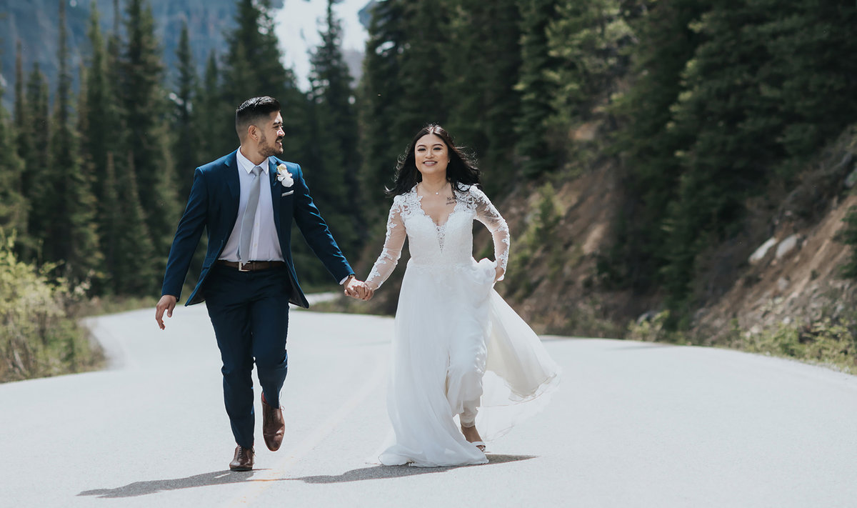 running away to get married moraine lake elopement