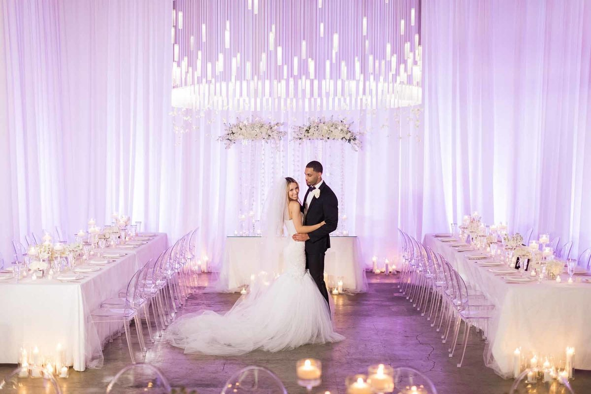 Stunning all white wedding at Canvas Event Space in Seattle