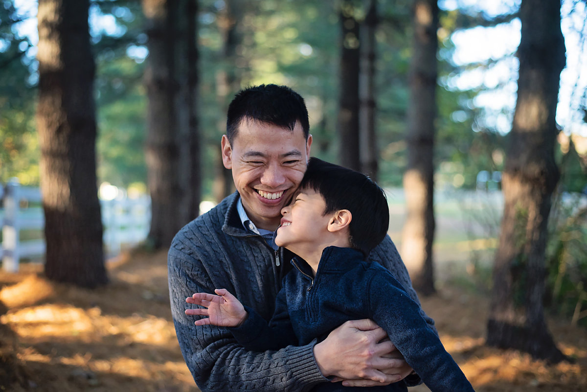 Father and son portraits at Avenel Local Park in Potomac by Sarah Alice Photography