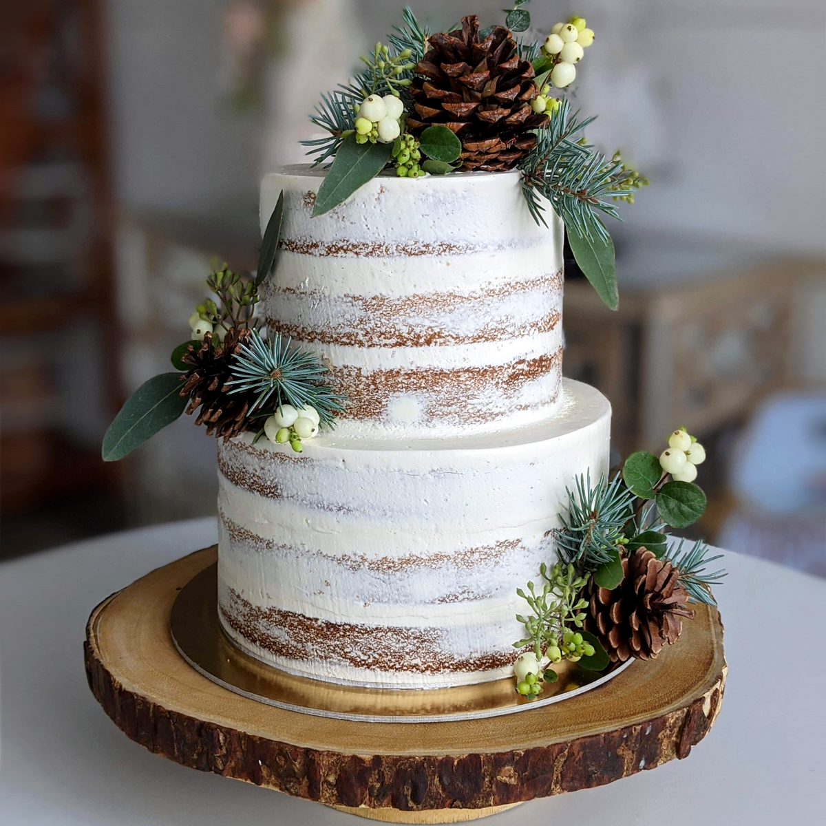 Whippt Kitchen - rustic wedding cake Sept 2020 2