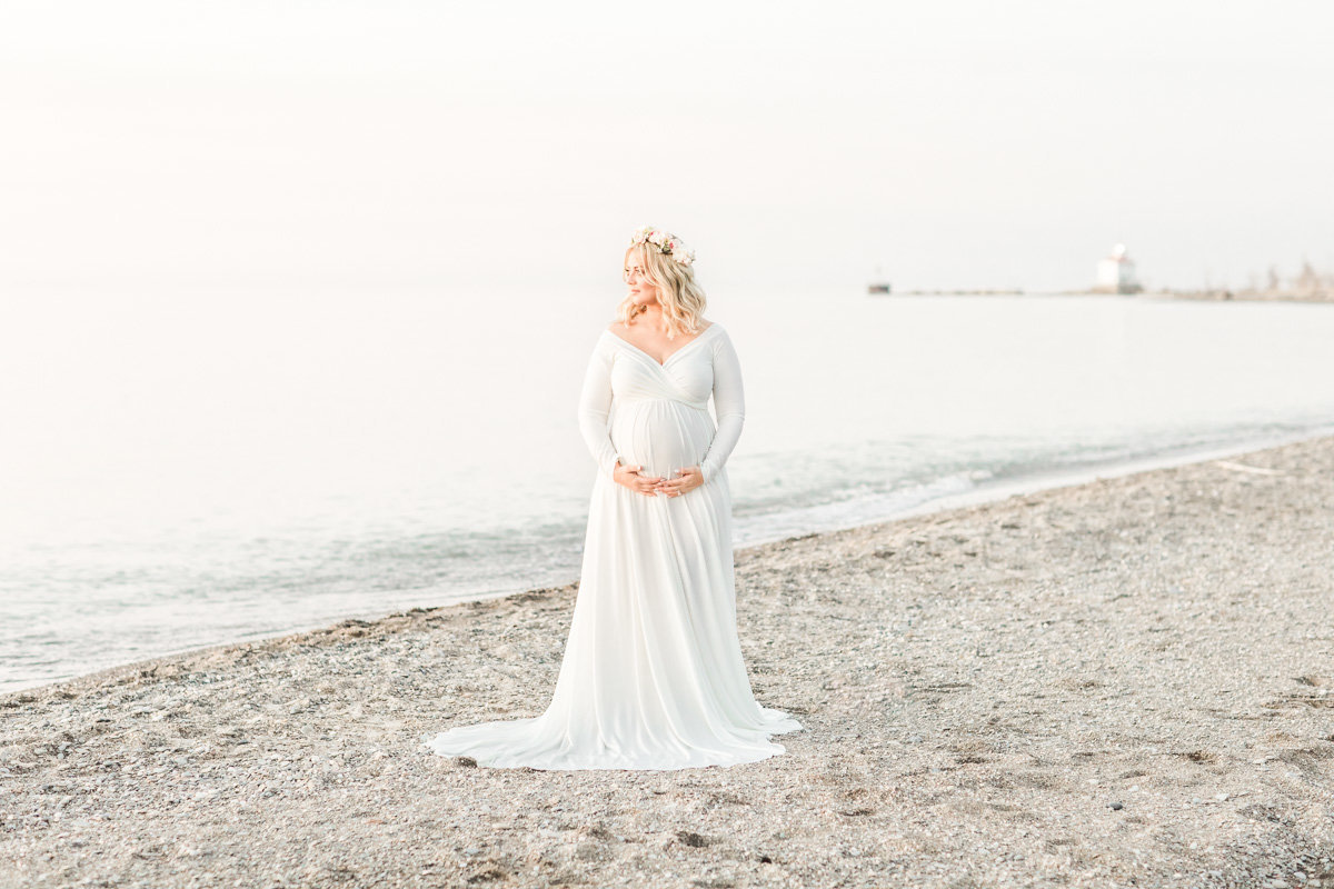 Cleveland Newborn and Maternity Photographer at Headlands Beach State Park
