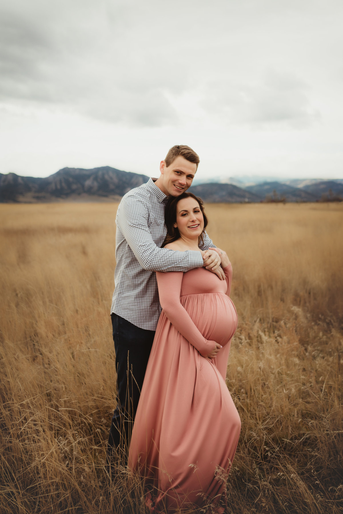 Couples Maternity Pictures Colorado Mountains