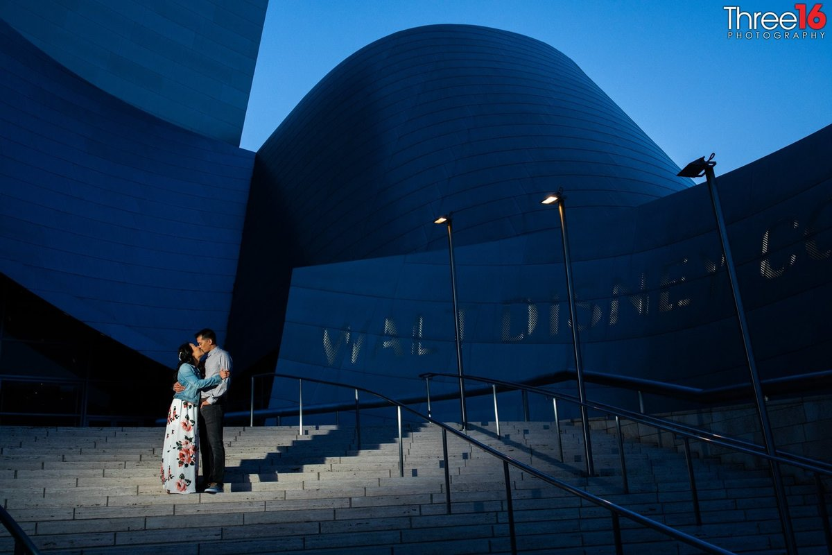 Walt Disney Concert Hall Engagement Photos Los Angeles County Weddings Professional Photography