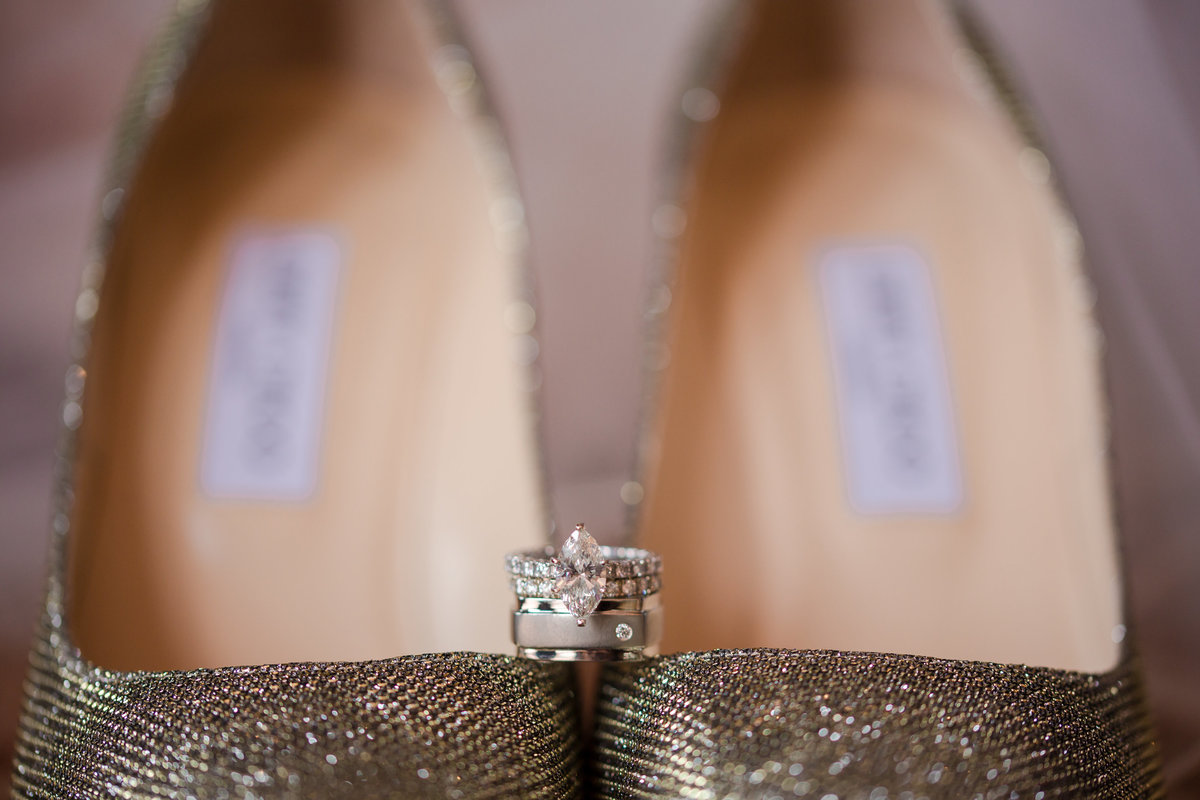 ring shot on Jimmy Choo shoes