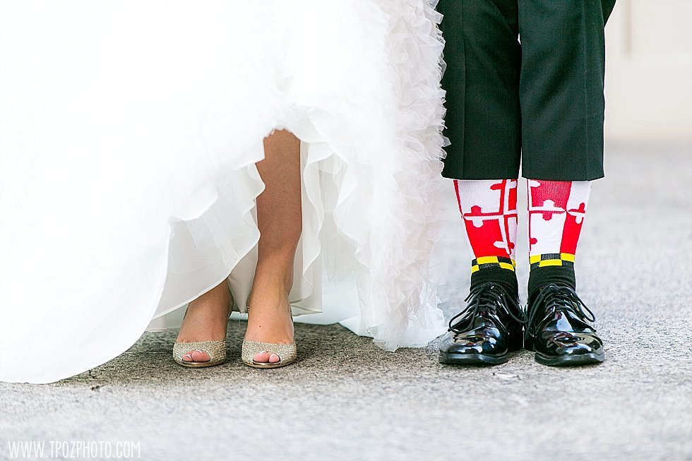 maryland flag socks wedding