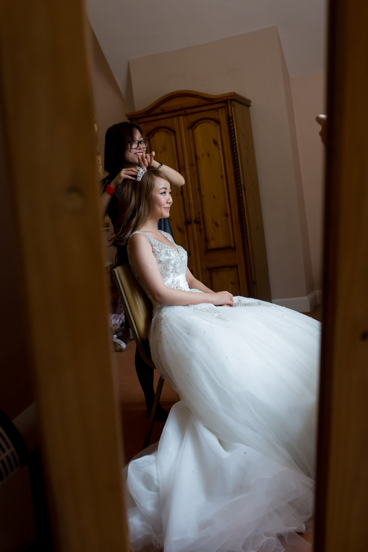 bridal hair at st audries park somerset