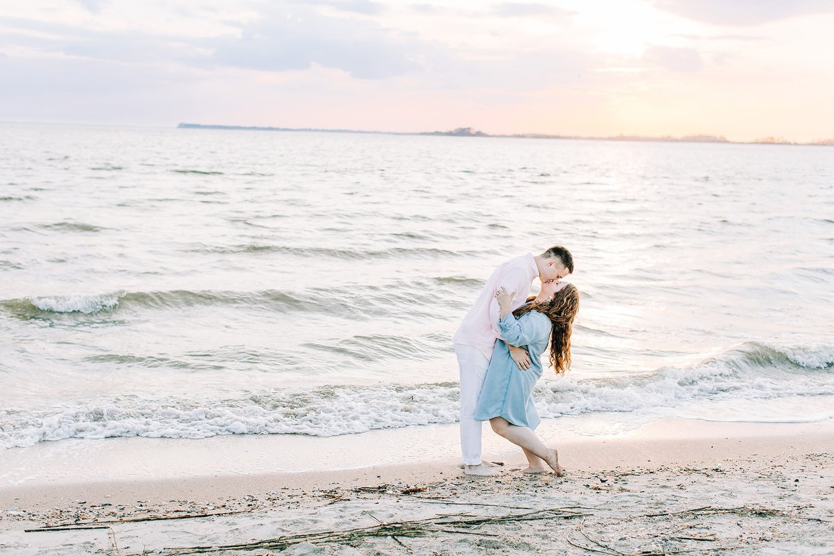 Engagement session on edisto beach in south carolina