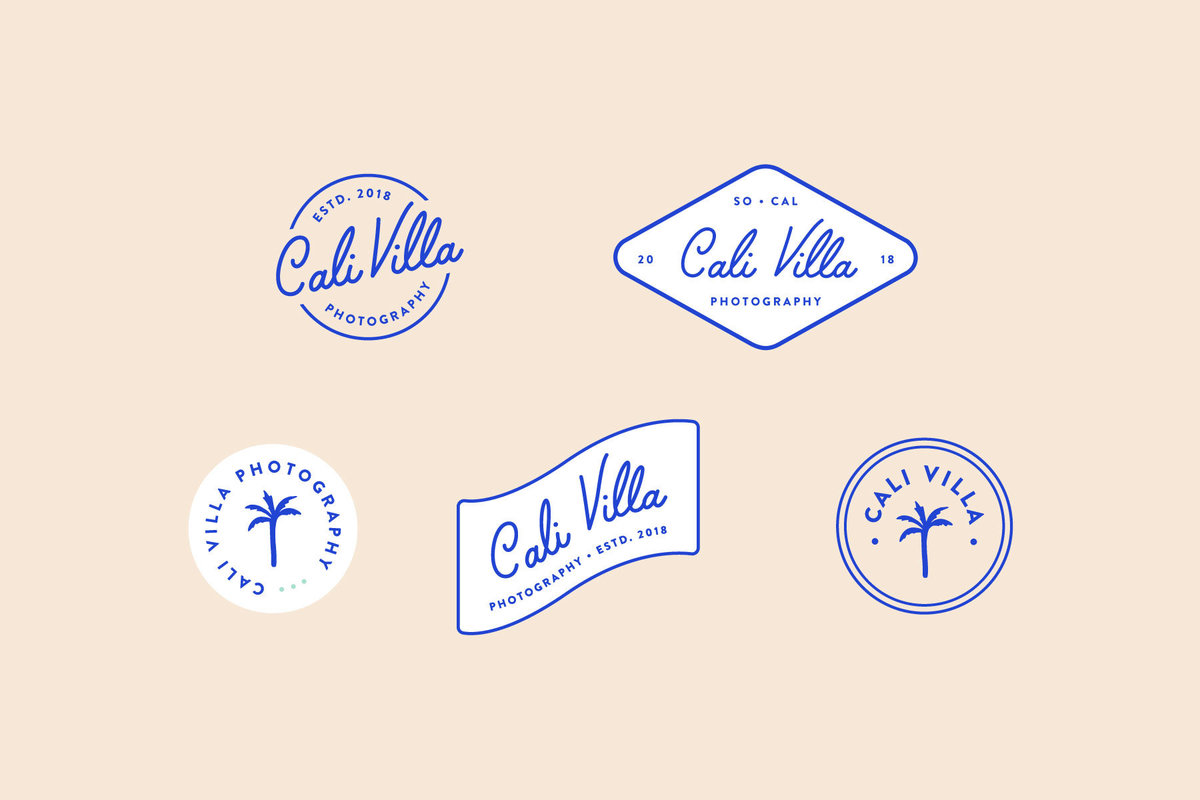 Cali Villa Coastal Pre-Made Brand for Creatives