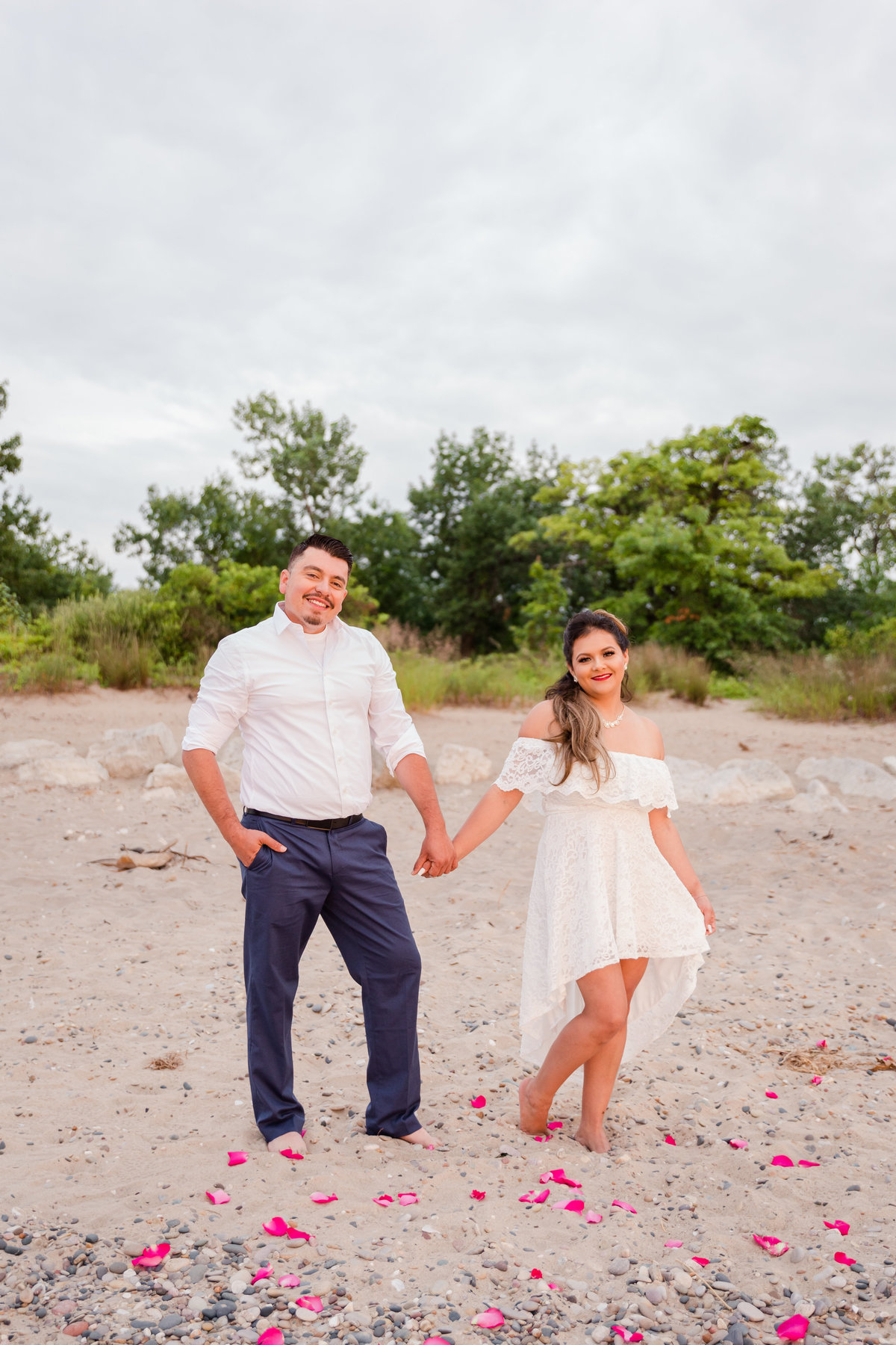 Maira Ochoa Photography, Beautiful sunrise engagement session at IL Beach State Park, Beach Park, IL_-20
