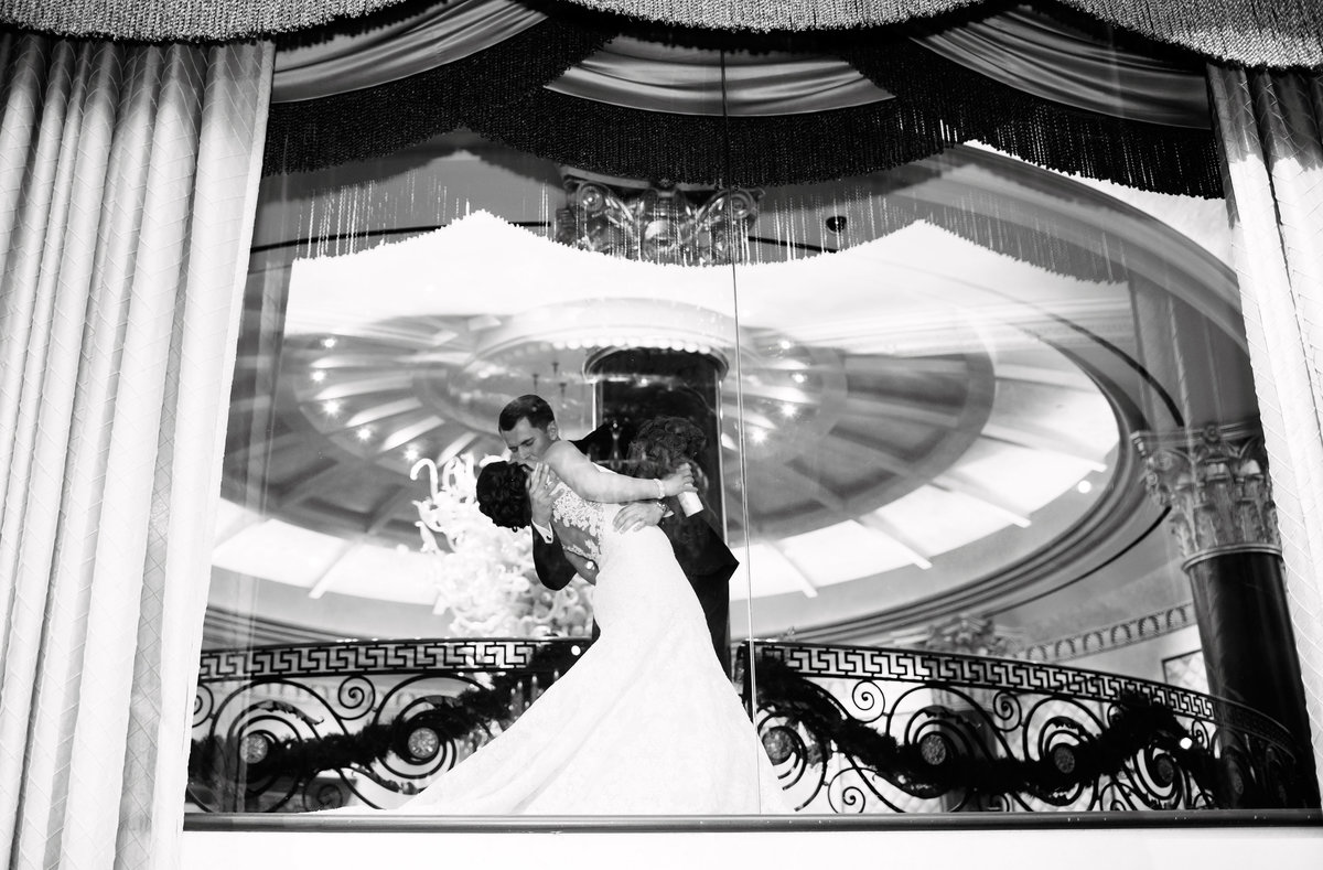 Venetian NJ winter wedding MLB Joe Panik black and white 23