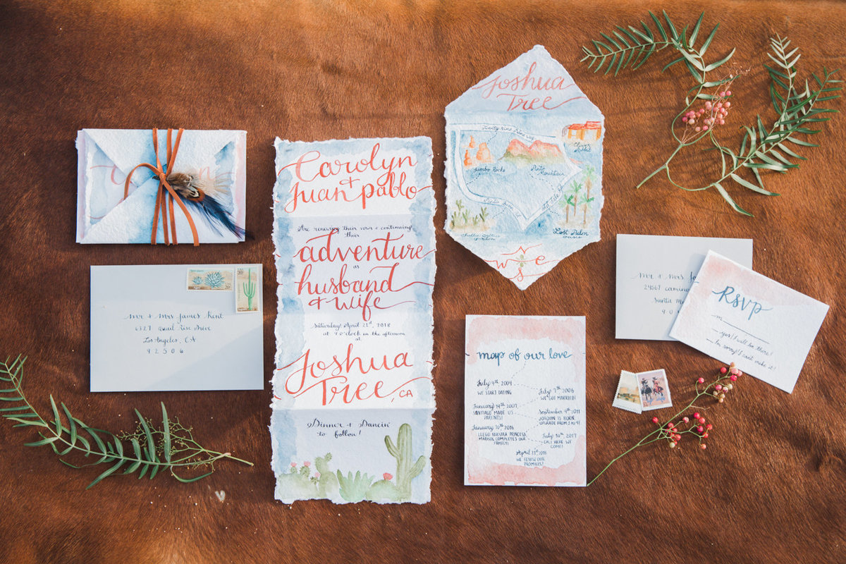 Stationery Suite Tinta y Pulso- Joshua Tree Vow Renewal  Wedding