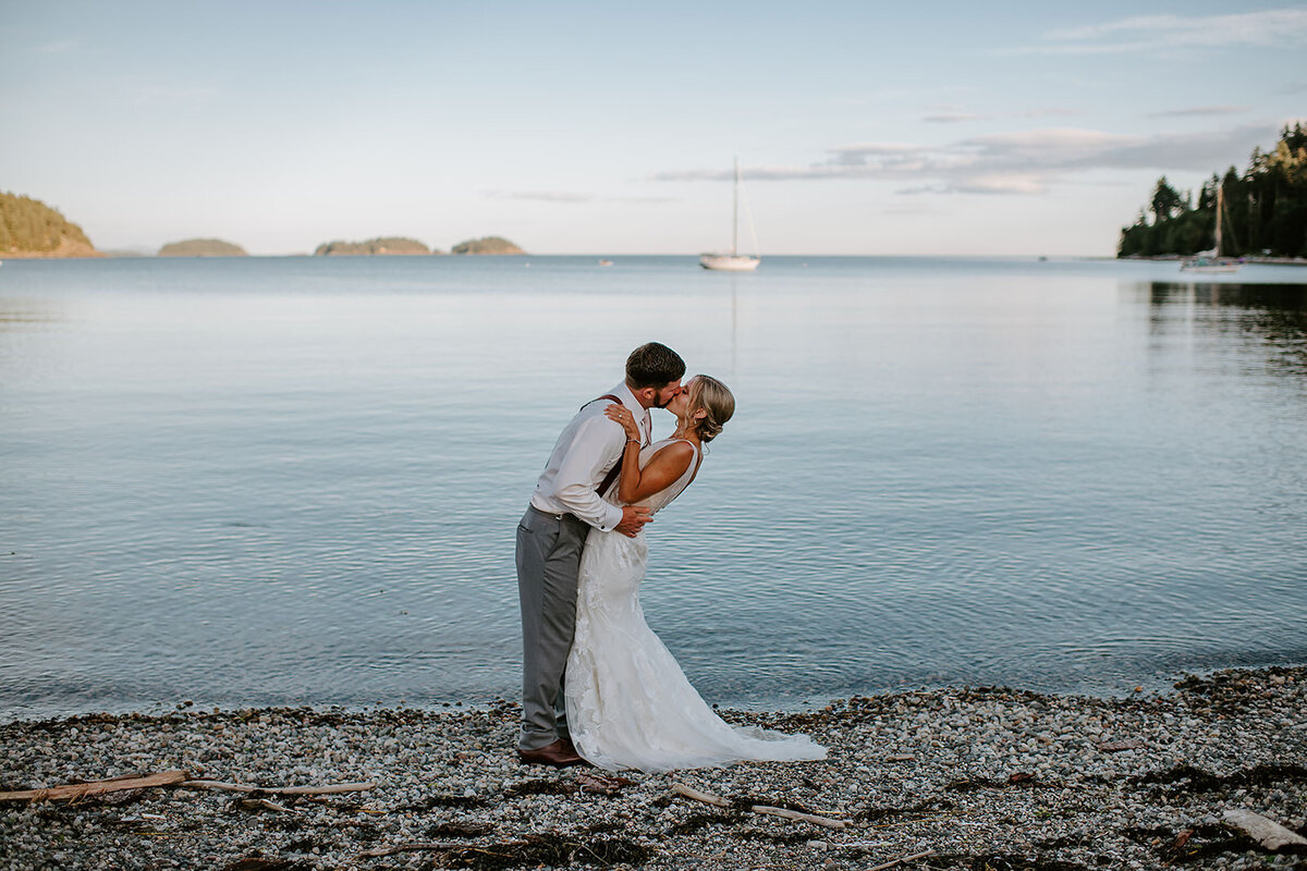 Couple getting ready during their Roberts Creek, Sunshine Coast B.C Wedding