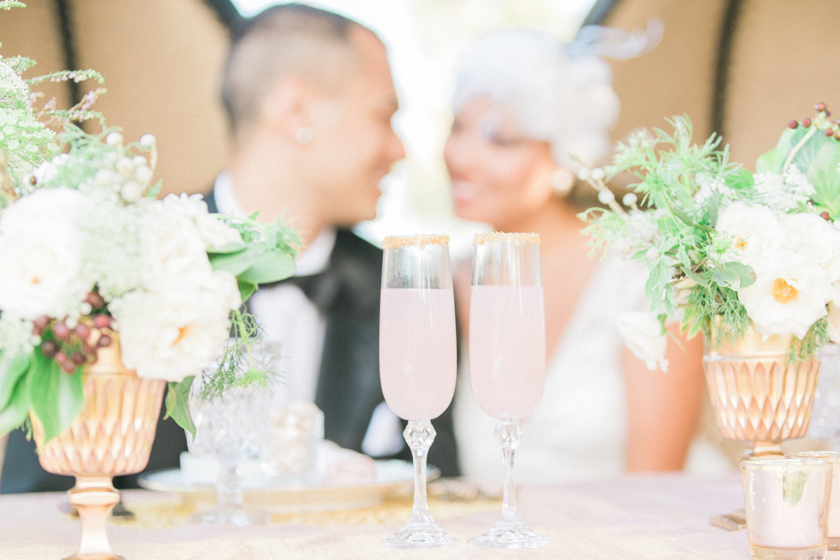 Blush and Gold Champagne Wedding