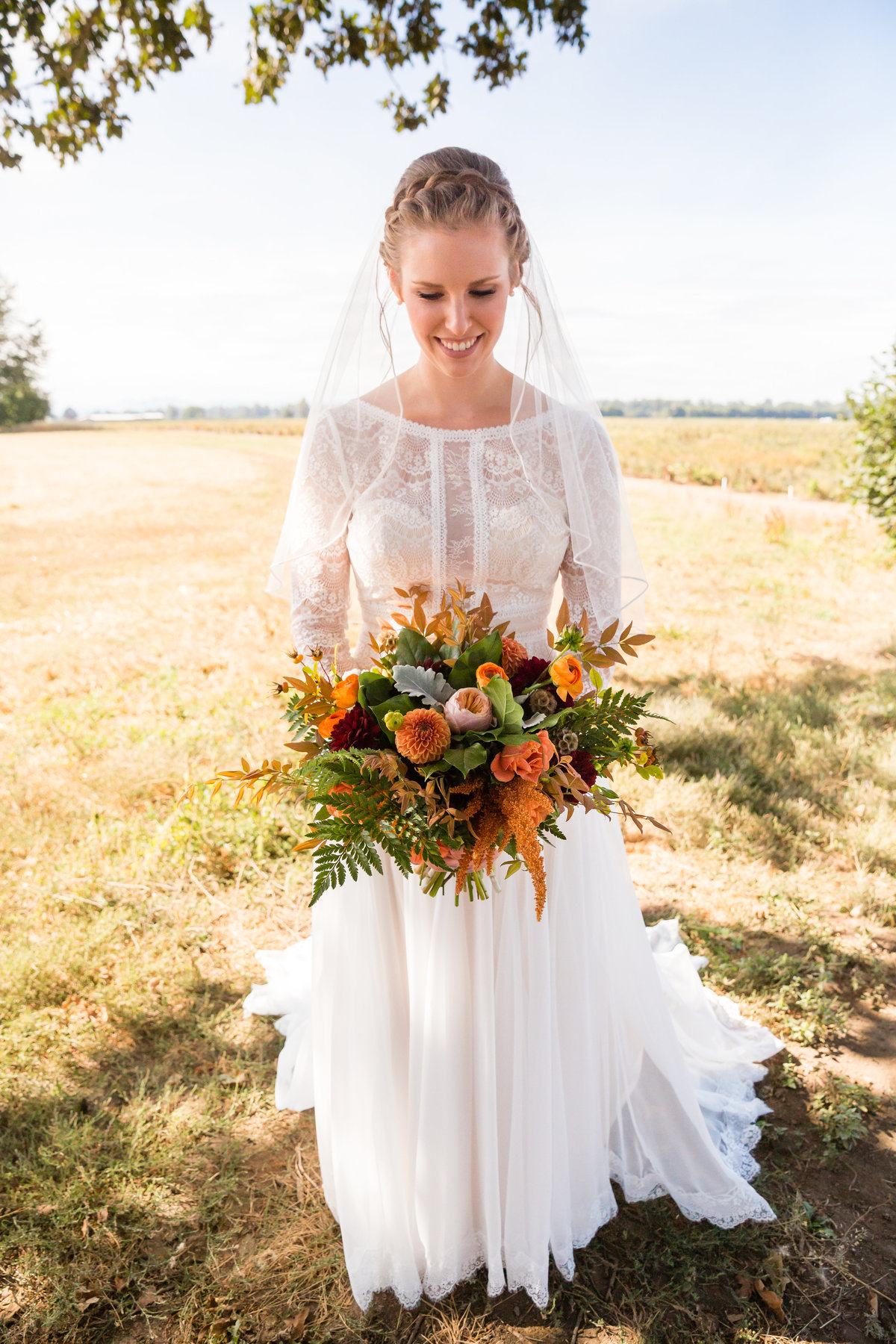 Outdoor Wedding Farm Dress Flowers Country 2