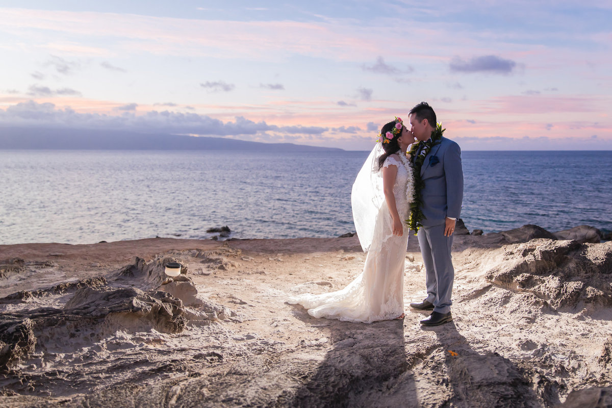 Maui Beach Maui wedding photography  - Bride and groom