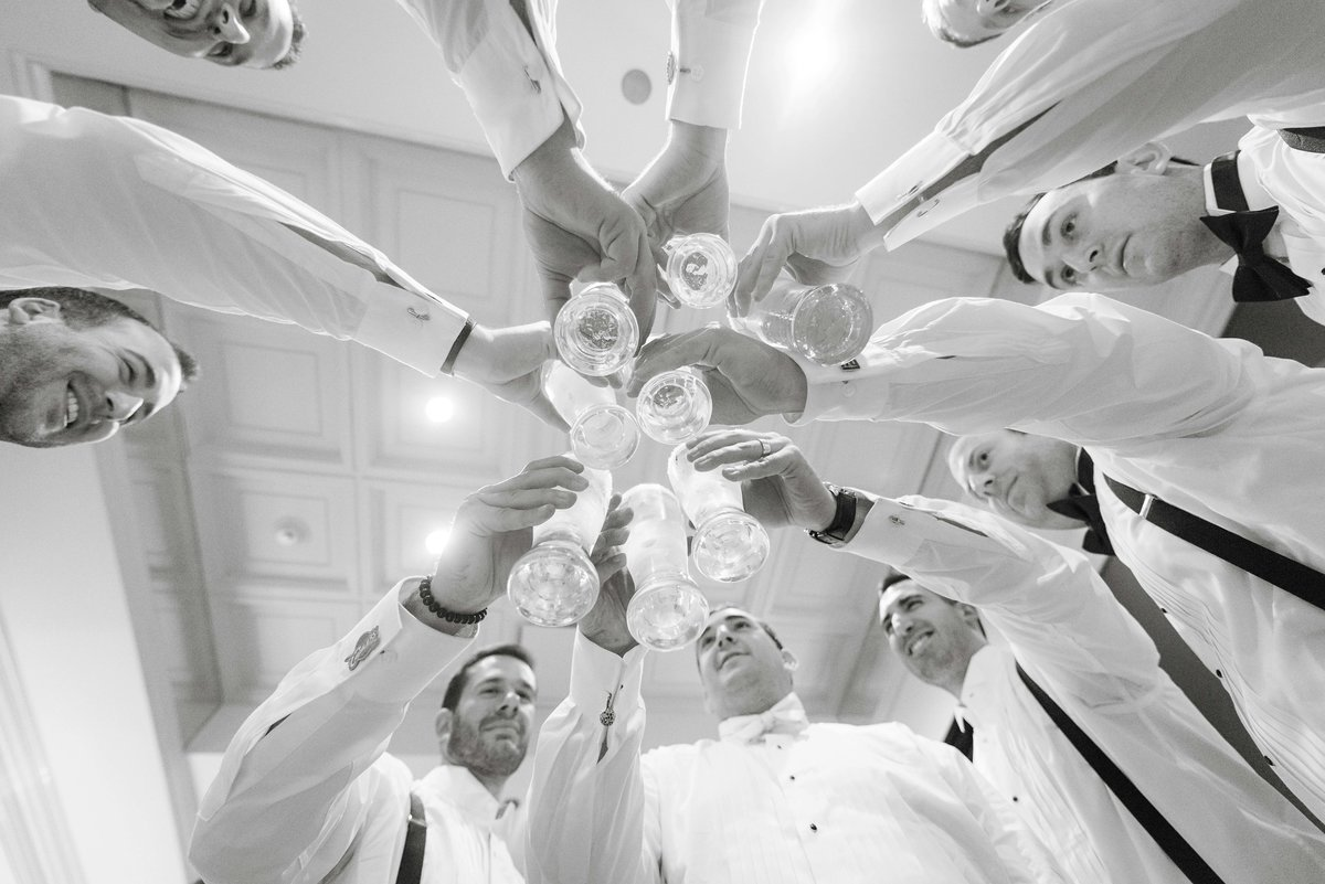 Fun groomsmen photo at Watermill Caterers