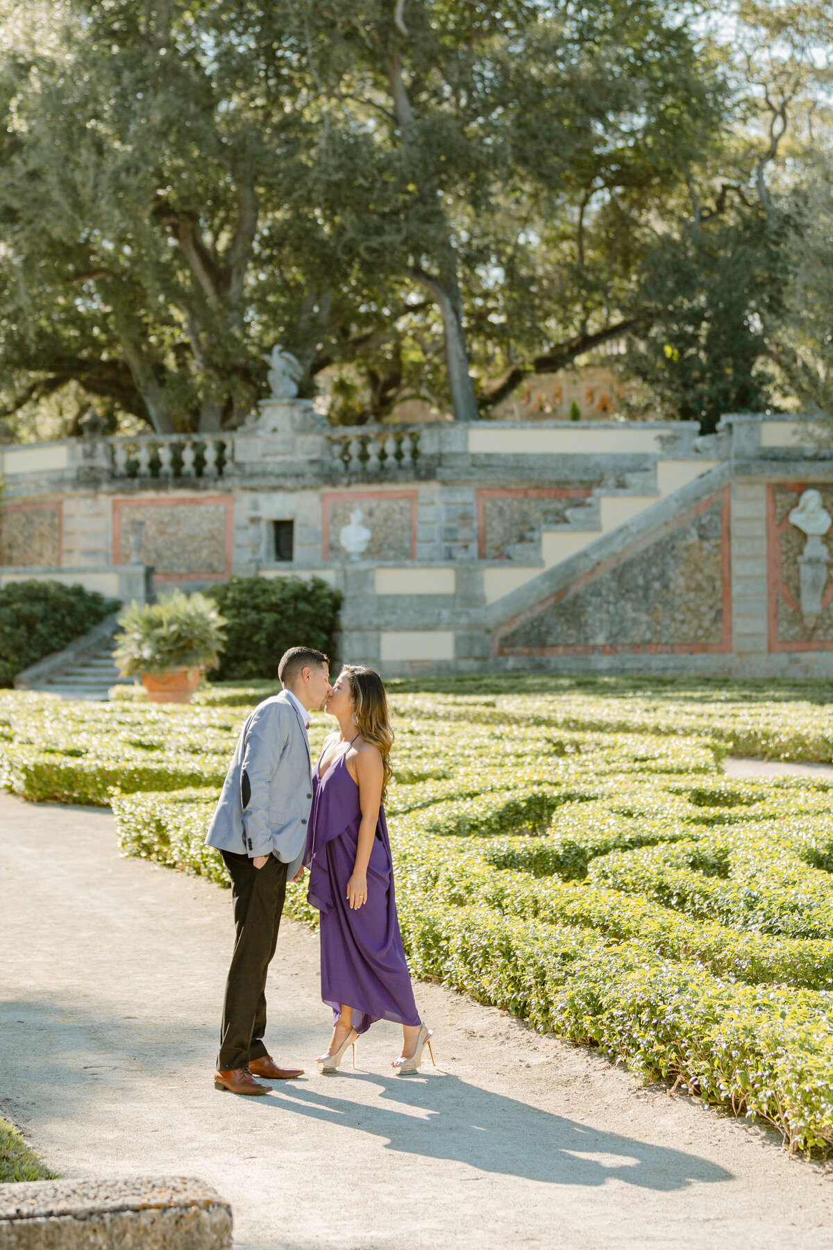 Vizcaya Museum Engagement Photography Session 8