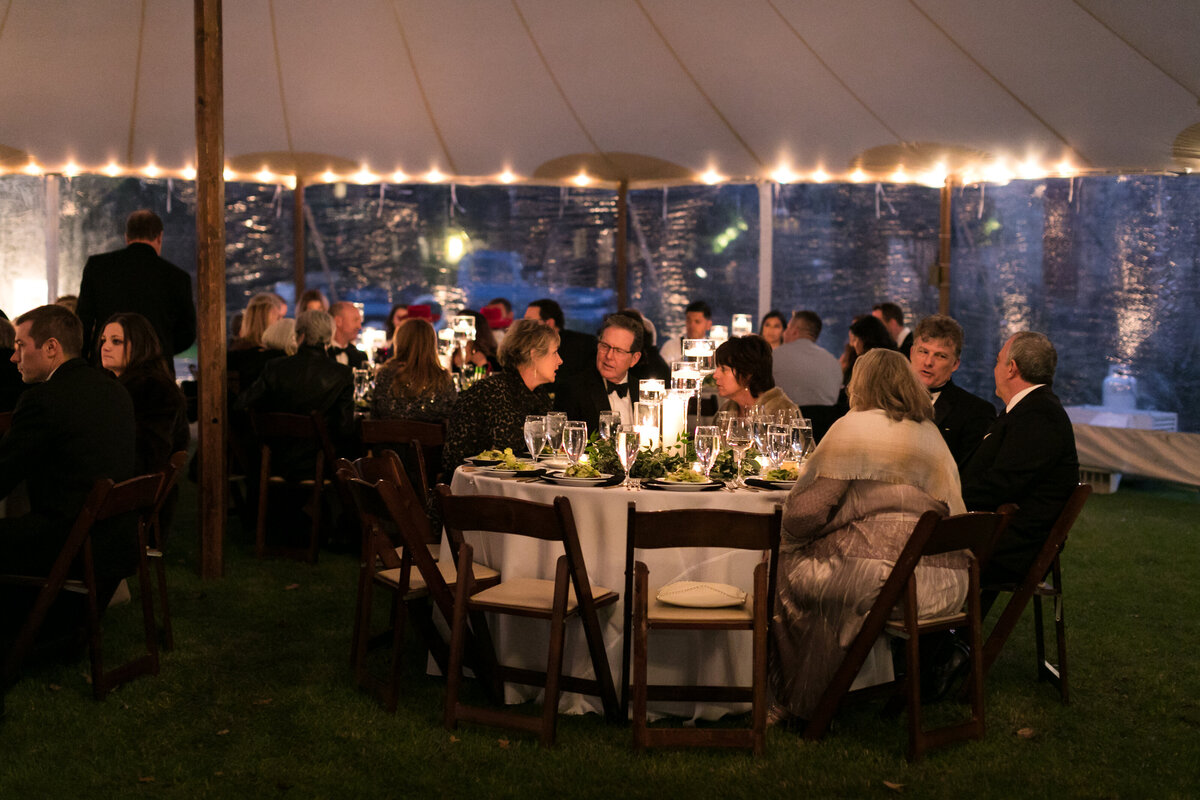 camp lucy wedding reception tent