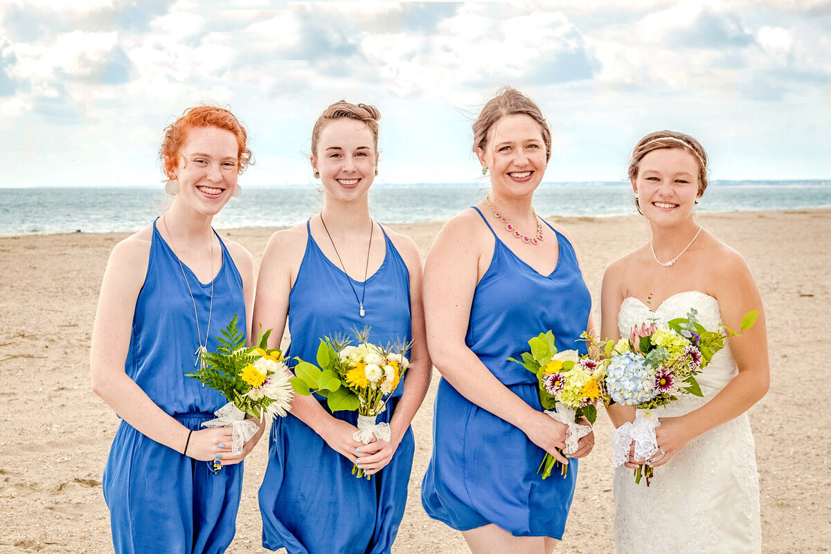 Bald Head Island Wedding Photography - Anna and Ray - Bride and Bridesmaids - Wilmington Photographers Team