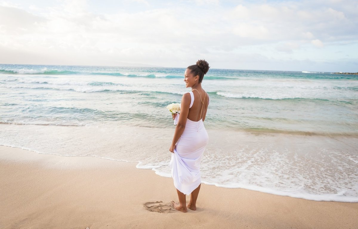 Capture Aloha Photography at The Westin Maui Resort and Spa with Bride at the beach