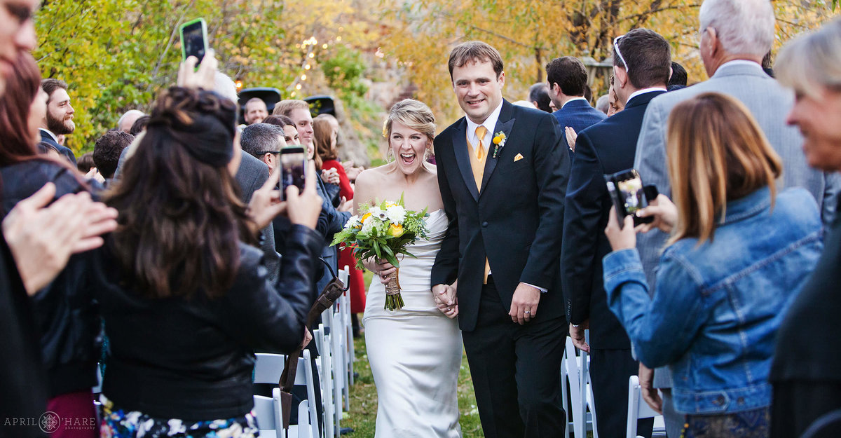 Pretty Outdoor Fall Wedding at Wedgewood on Boulder Creek