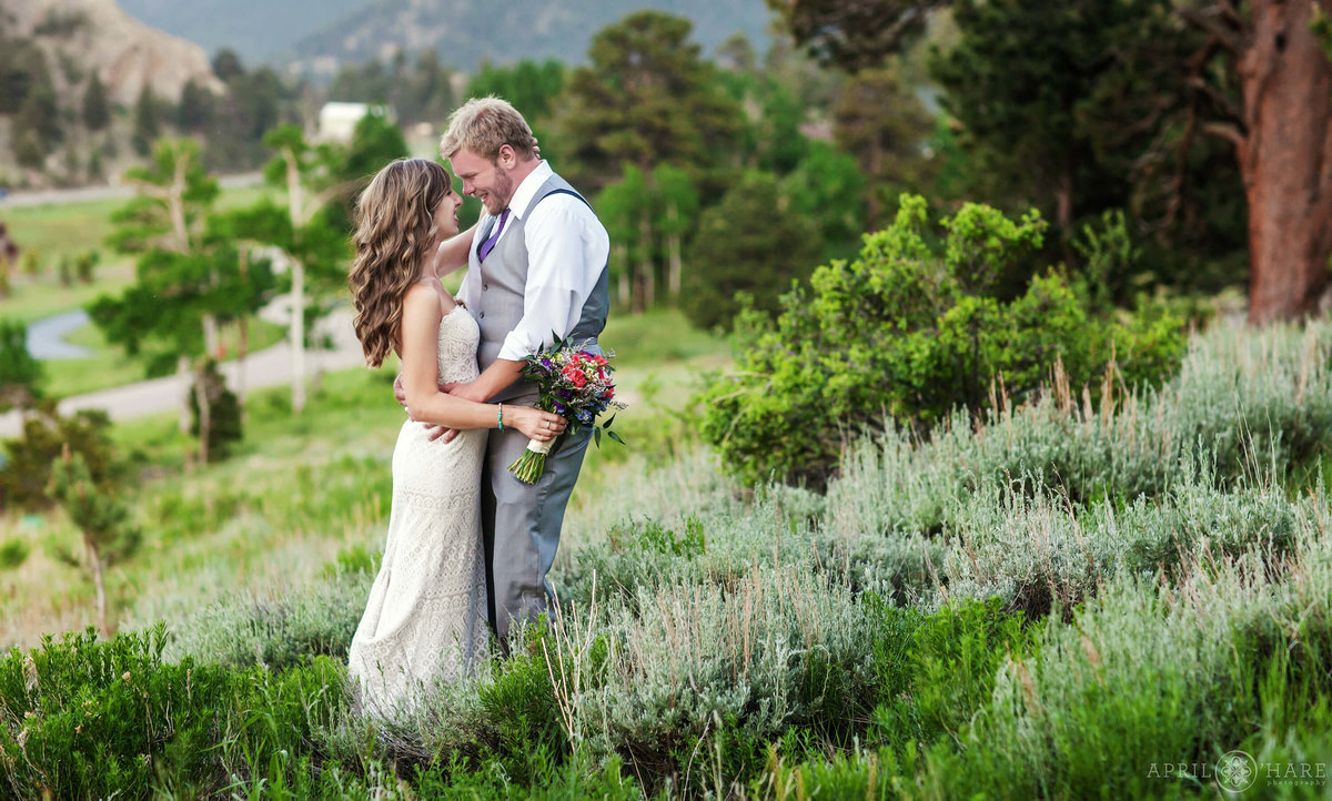 Estes Park Wedding Photographer at Mary's Lake lodge during summer