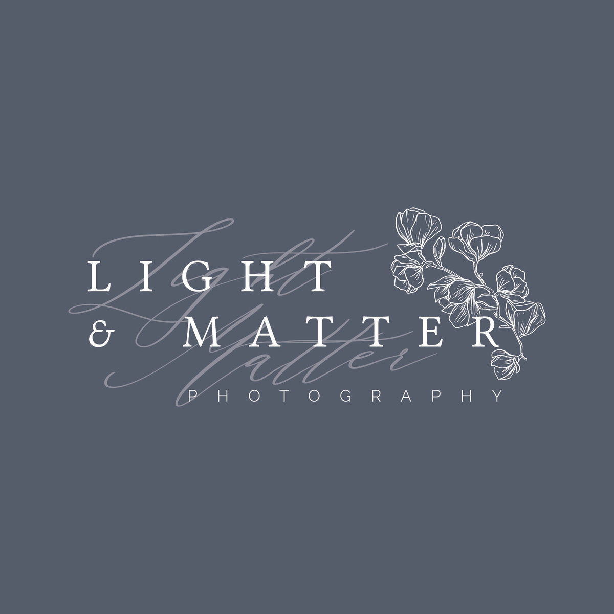 Light and Matter Photography Logo design