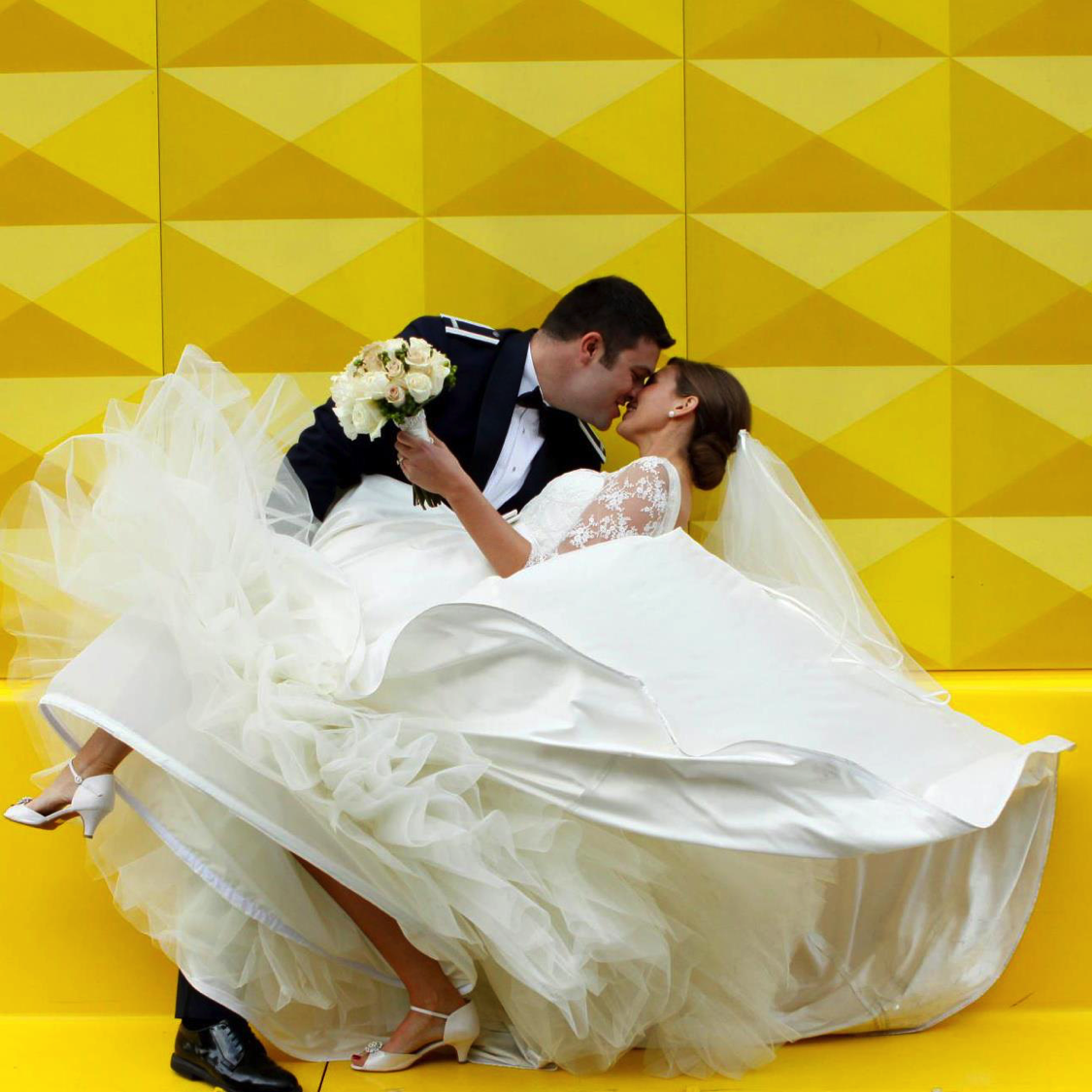 natalie setareh yellow wall denver bride