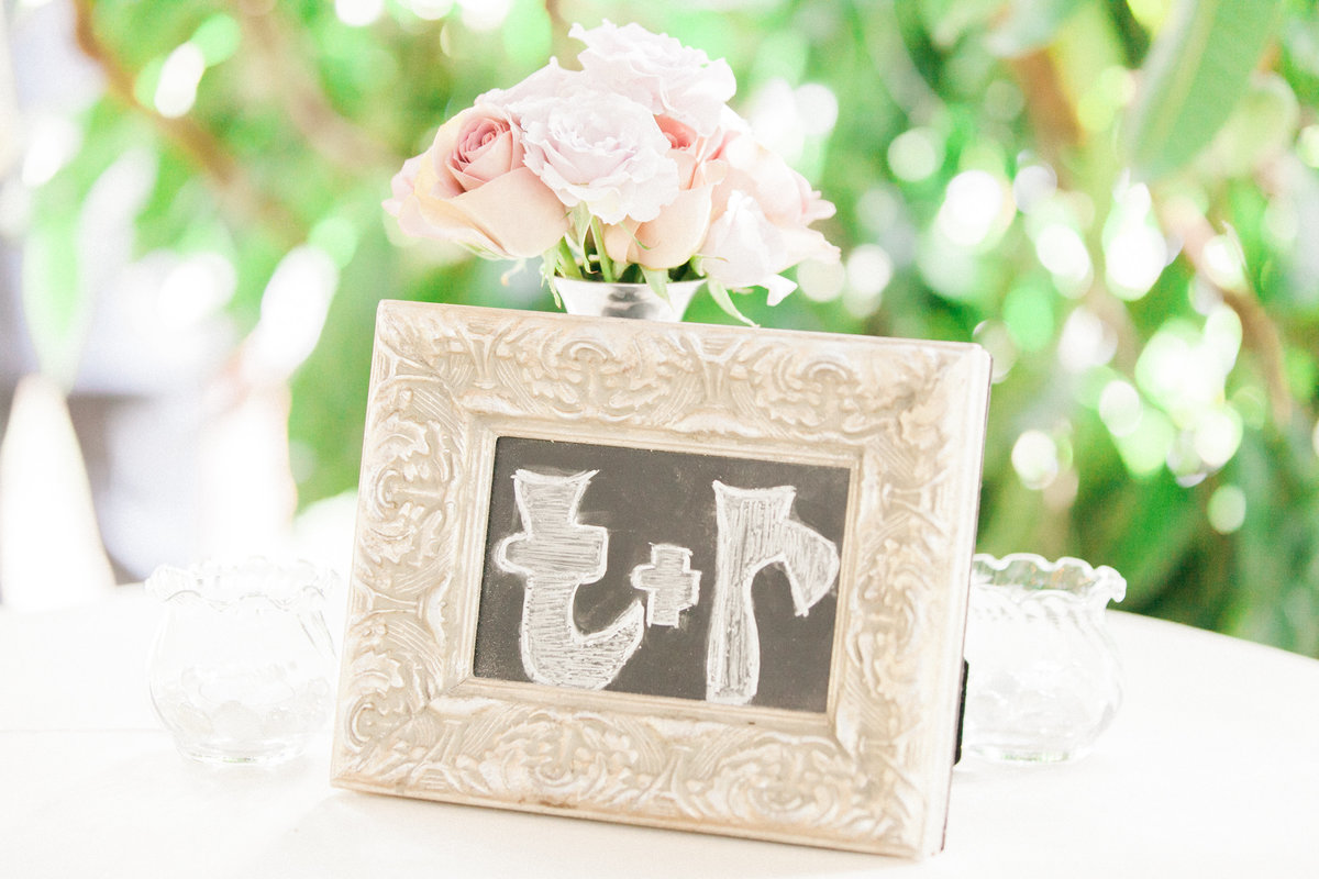 Framed Chalk Wedding Decor