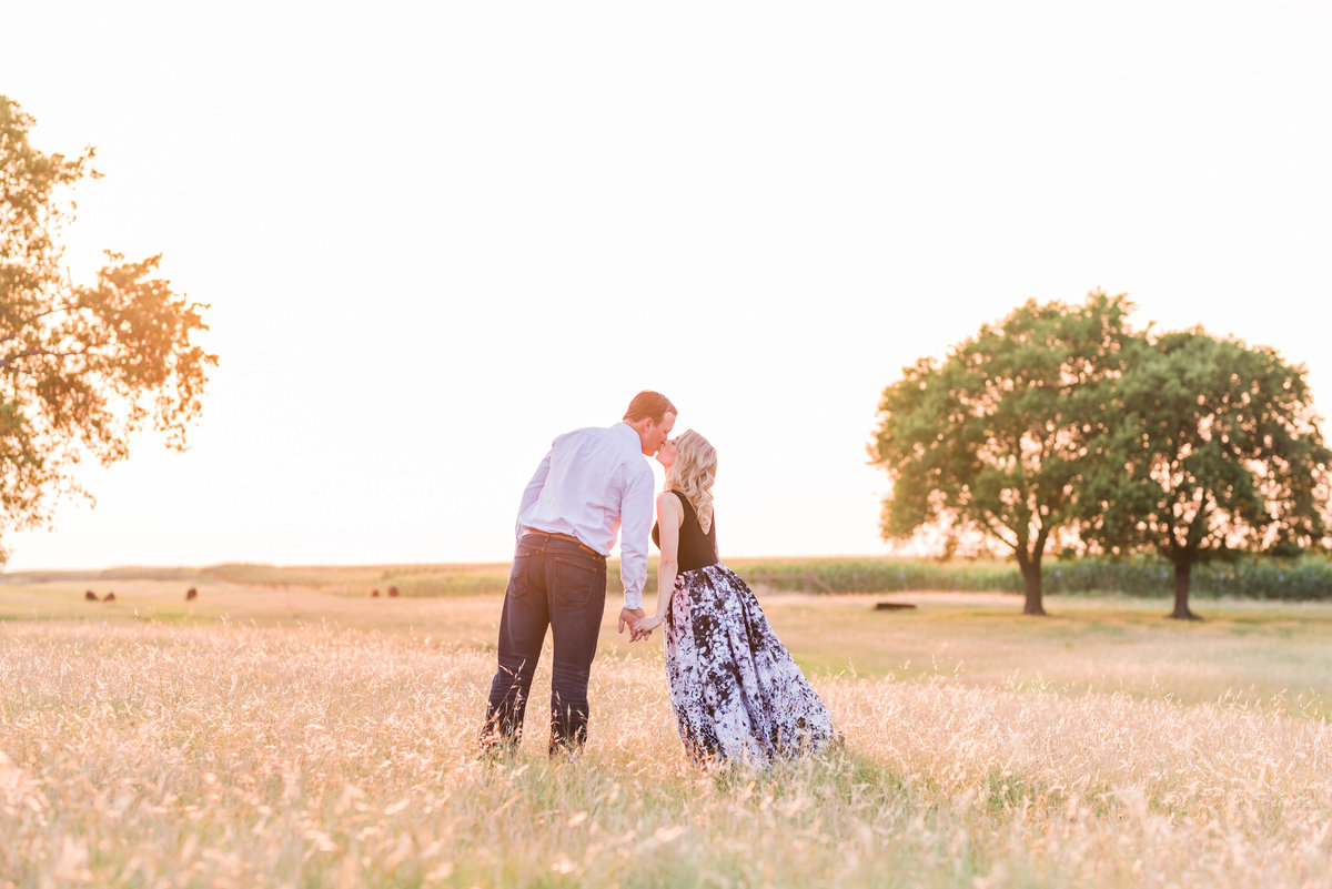 Dallas Engagement Session in Field
