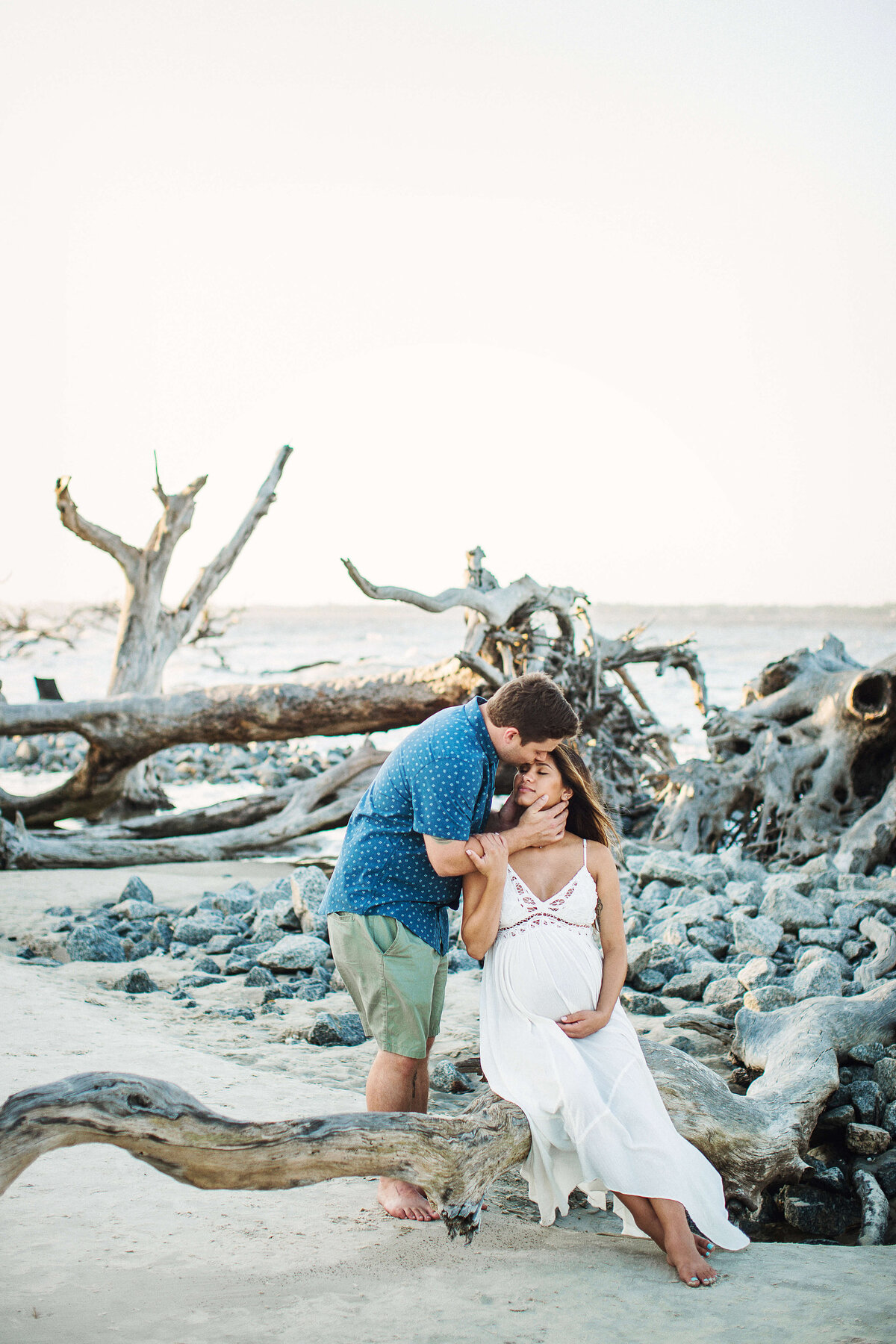 Driftwood Beach Maternity portrait session