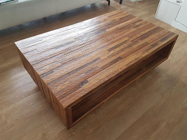 reclaimed fir coffee table