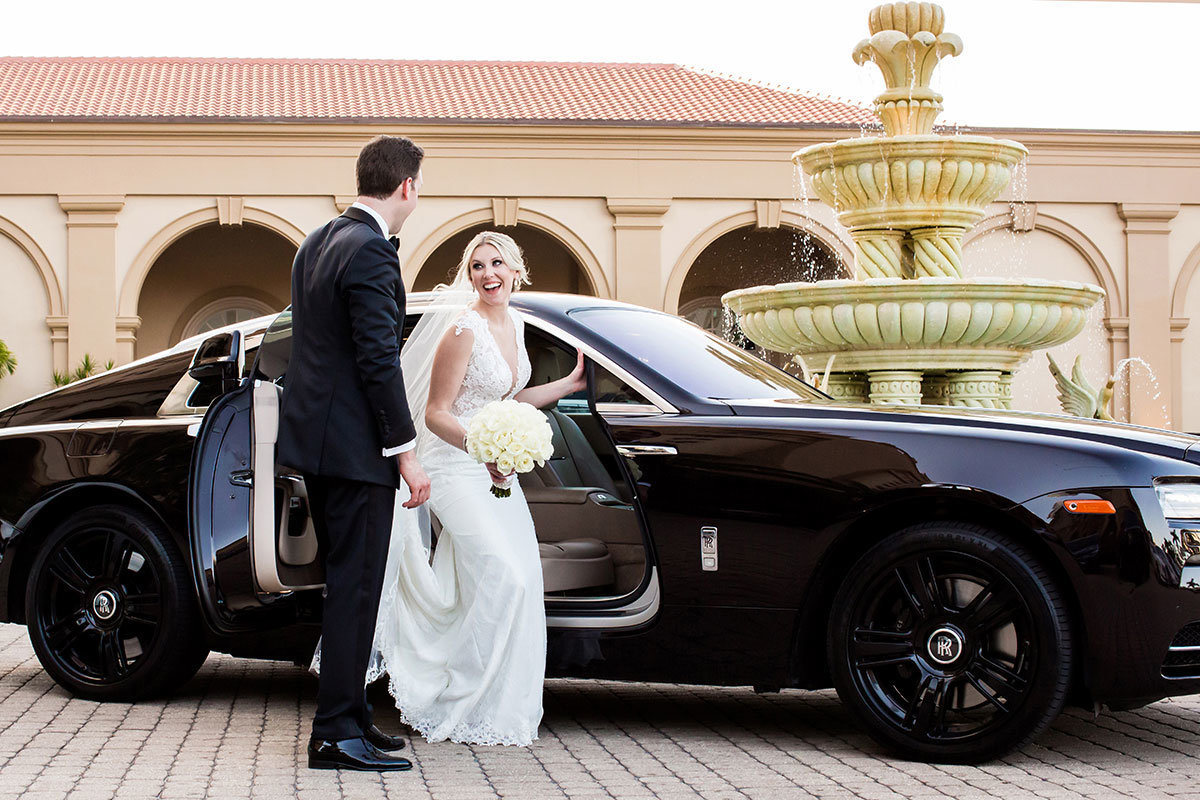 ritz carlton naples limo wedding photo