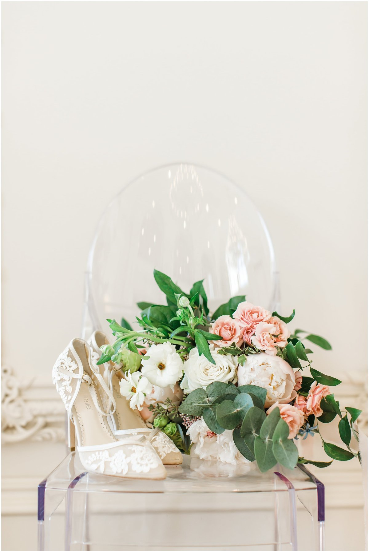 Wedding bouquet, Wedding flowers, wedding shoes at the Olana