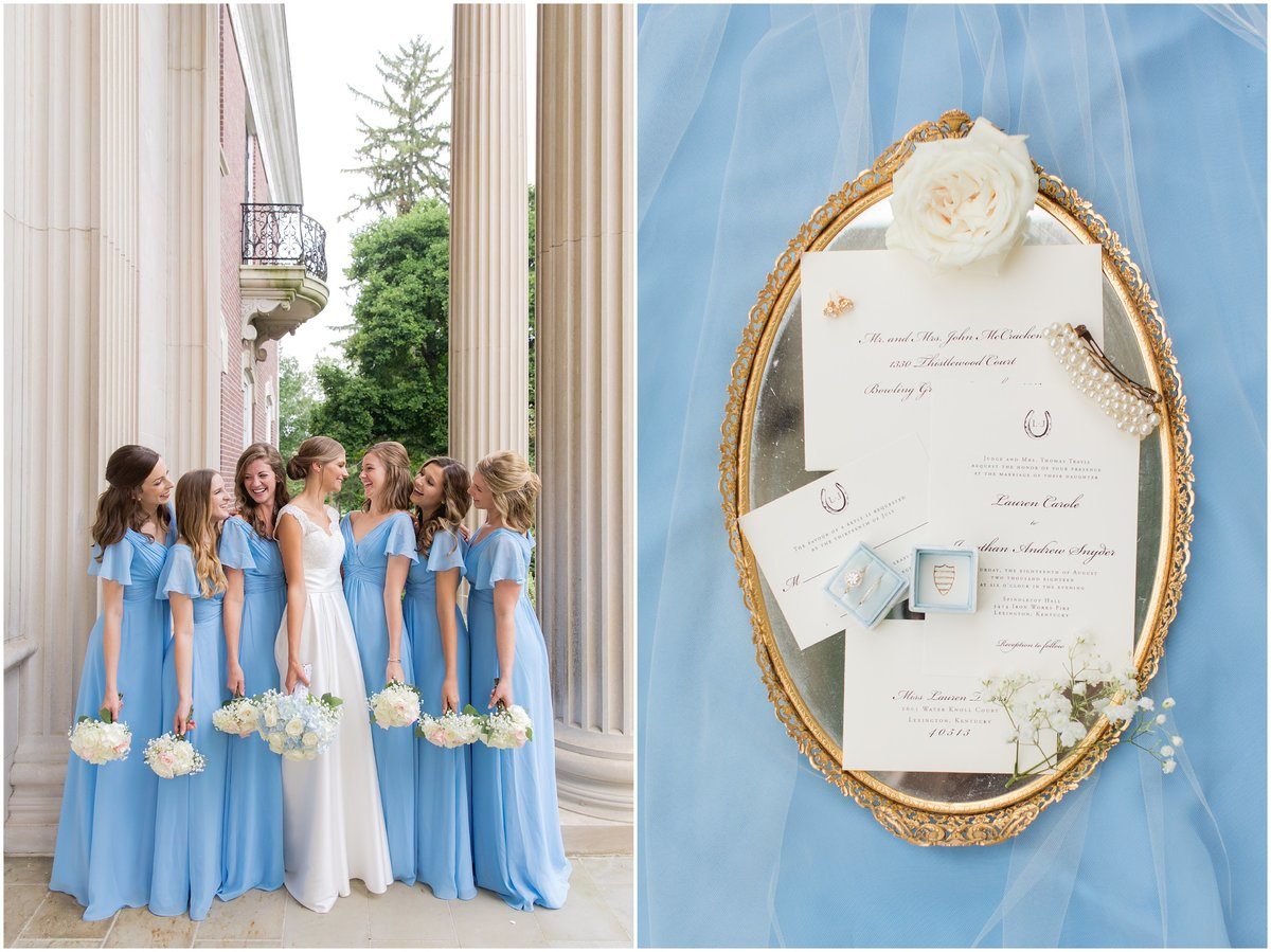 Bride and bridesmaids at Spindletop Top Hall