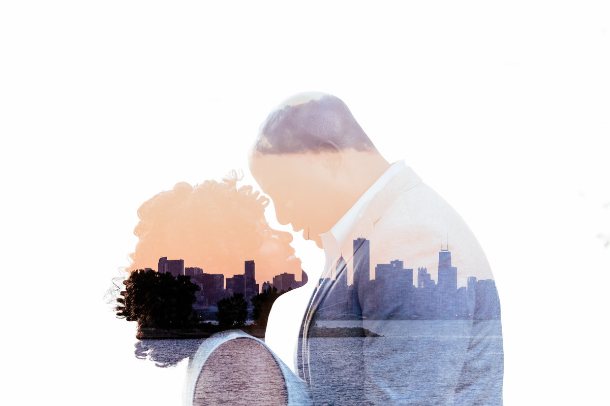 Double-Exposure-PromontoryPoint-Engagement-Chicago